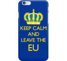 Leave EU Funny Anti European Union Protest iPhone Case/Skin