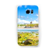 seaweed covered rocks with castle Samsung Galaxy Case/Skin