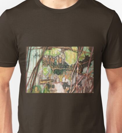 On the Outer ~ Tree Trunk Extracts (flat detail section 2) Unisex T-Shirt