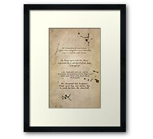 Moony Wormtail Padfoot and Prongs Framed Print