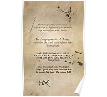 Moony Wormtail Padfoot and Prongs Poster