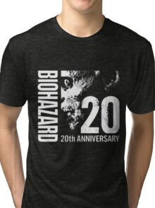 Resident Evil - 20th Anniversary Japanese With Anniversary Text Tri-blend T-Shirt