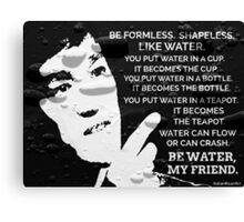 Words Of Wisdom Black Water Canvas Print