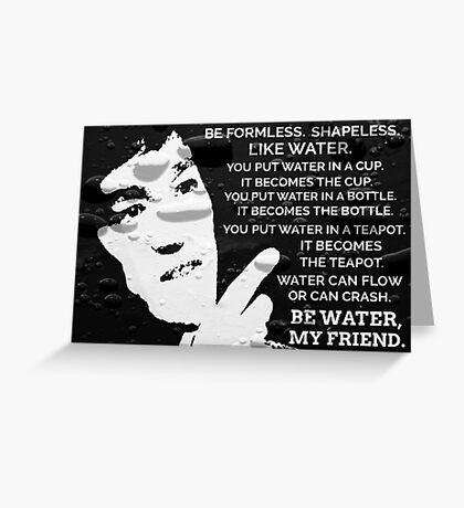 Words Of Wisdom Black Water Greeting Card