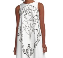 Maleficent Flash Black and White A-Line Dress