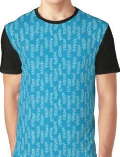 Bright blue floral pattern. Graphic T-Shirt