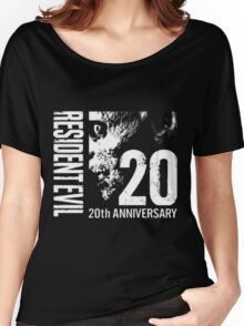 Resident Evil - 20th Anniversary With Anniversary Text Women's Relaxed Fit T-Shirt