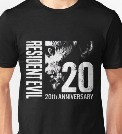 Resident Evil - 20th Anniversary With Anniversary Text Unisex T-Shirt