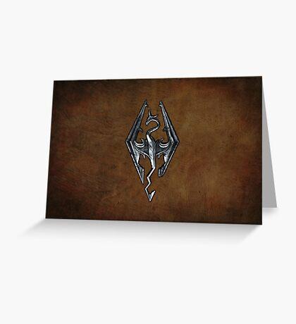 Skyrim Worn Leather Symbol Greeting Card