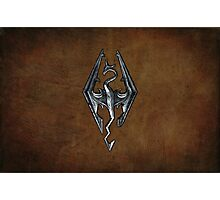 Skyrim Worn Leather Symbol Photographic Print