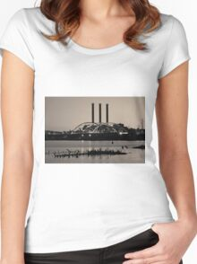 Providence Harbor III Toned Women's Fitted Scoop T-Shirt
