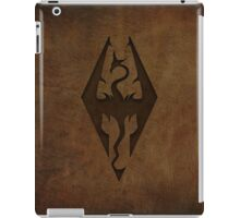 Skyrim Worn Leather Emboss iPad Case/Skin