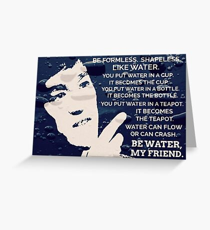 Words Of Wisdom Blue Water Greeting Card
