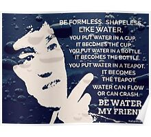Words Of Wisdom Blue Water Poster