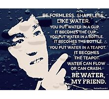 Words Of Wisdom Blue Water Photographic Print