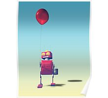 Little Red Birthday Robot 3 Poster