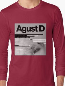 SUGA - AGUST D  Long Sleeve T-Shirt