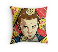 Stranger Waffles Throw Pillow