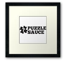 Puzzle Sauce Framed Print