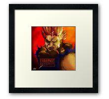 "Akuma - ""Challenge Accepted"" Framed Print"