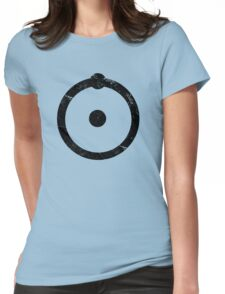 Doctor Manhattan Symbol Distressed Watchmen Womens Fitted T-Shirt