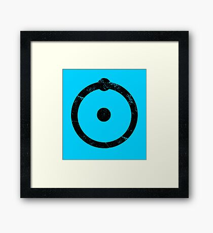 Doctor Manhattan Symbol Distressed Watchmen Framed Print