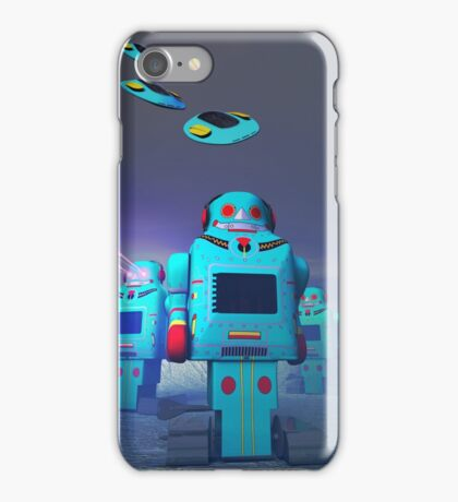 Toy Robos on the Attack iPhone Case/Skin