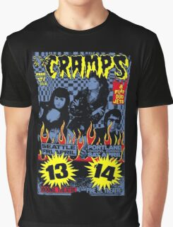The Cramps (Seattle & Portland shows) Colour Graphic T-Shirt