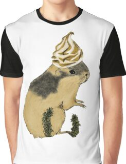 Arctic Lemming Meringue Graphic T-Shirt