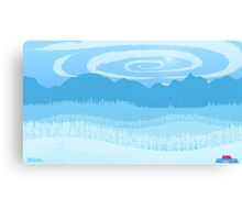 8-bit Alpine Canvas Print