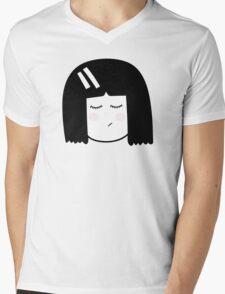 Kokeshi girl. Mens V-Neck T-Shirt