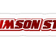 Crimson Star Title Logo Sticker