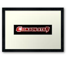 Crimson Star Title Logo Framed Print