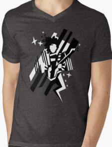 Ghost of the prince - black and white Mens V-Neck T-Shirt