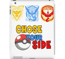 POKEMON GO TEAMS Chose your side iPad Case/Skin