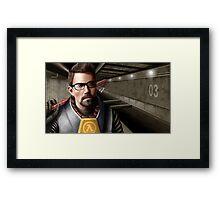 Half-life - Gordon Freeman Framed Print