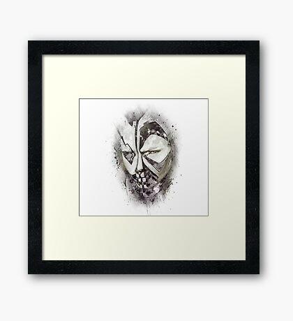 face black and white Framed Print