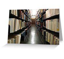 Alderman Library Stacks - UVA  ^ Greeting Card