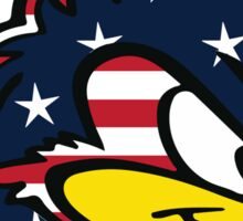 USA Flag Blue Hen Sticker