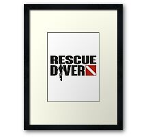 Rescue Diver  Framed Print