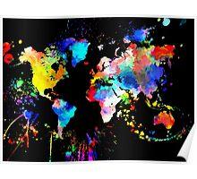 World Grunge Poster