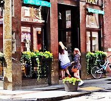 Boston MA - Cafe in Little Italy by Susan Savad