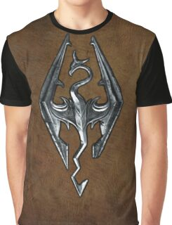 Skyrim Worn Leather Symbol Graphic T-Shirt