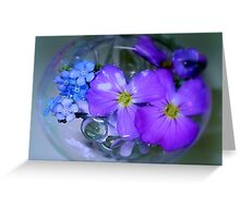 Blue Bubble! Greeting Card