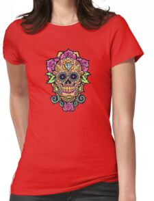 Awesome skull Womens Fitted T-Shirt
