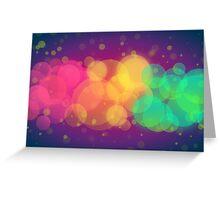 Colorful Bokeh Art Greeting Card