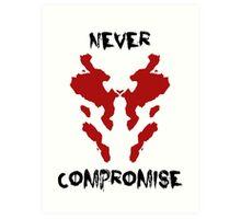 Never Compromise Rorschach Watchmen Art Print