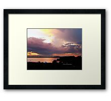 Pillow cloudscape  Framed Print
