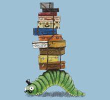 Monsieur Caterpillar Goes Travelling Kids Tee