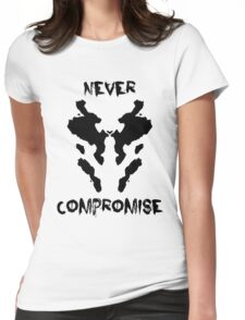 Never Compromise Rorschach Watchmen Womens Fitted T-Shirt